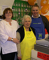 Richard Bacon MP at Barnado's Diss with from left, Manager Kim Snelgrove and volunteer Freda Howard