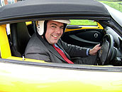 Richard takes to the track in a Lotus Elise 111R