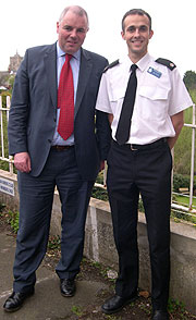 WORKING TOGETHER: Richard Bacon MP and Superintendent Paul Sanford hope to make South Norfolk even safer
